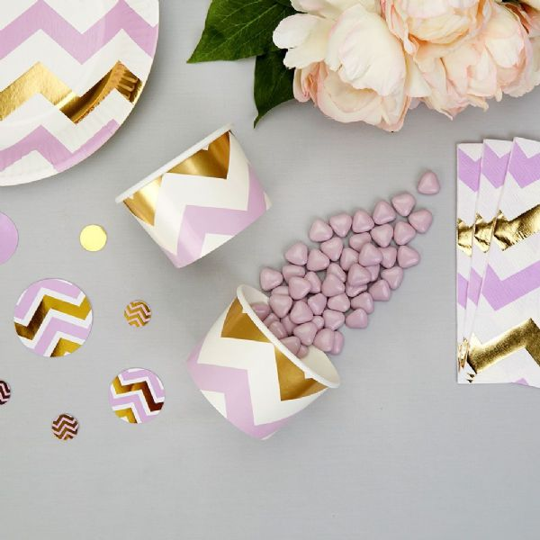 Pattern Works Lilac Chevron Treat Tubs (8)